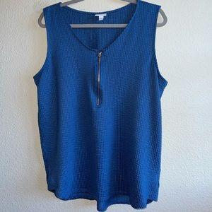 LuLaRoe Blue Rachel Tank Top Plus Size